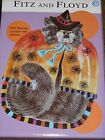 Fitz and Floyd Halloween Kitty Witches with Spiders Canapes Plate