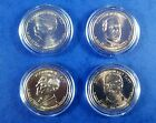 2013 P Uncirculated 4 Coin Set of Presidential 1 BU Coins in Holders