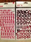 TWO Packages Thickers Scrapbook Alphabet Letters Numbers Chipboard Red