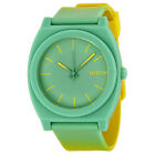 Nixon The Time Teller Green Dial Green Silicone Unisex Watch A1191385