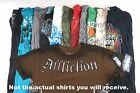 Mens Graphic Tees Lot of 10 Random w 1 Affliction BEST DEAL COOLEST Shirts