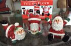 Adorable 2006 Fitz and Floyd Merry Christmas Santa Tumblers New In Box - CuTE!!