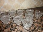 VINTAGE WEXFORD ANCHOR HOCKING GLASS 9 PUNCH COFFEE CUPS