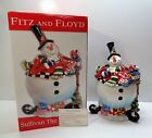 UNUSED Fitz and Floyd Sullivan the Snowman cookie jar retired 2006 WITH BOX