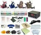 Complete Tattoo Kit 4 Machine Guns Equipment Power Supply 20 Colors TK 28