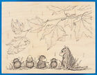 Rare House Mouse AUTUMN SPRINKLES Rubber Stamp Fall Leaves Rain Chipmunk Mice