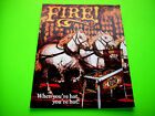 Williams FIRE Original 1987 Flipper Game Pinball Machine Promo Sale Flyer Adv.