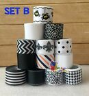 10 13YDs Mixed7 81Grosgrain Ribbon Bow Black  White Halloween Scrapbook Lot