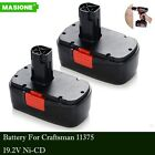 2 Pack 19.2V Ni-CD Battery for Craftsman C3 11375 130279005 Cordless Drill