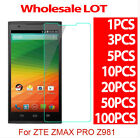 9H Premium Tempered Glass Screen Protector Film For ZTE ZMAX PRO Z981 LOT