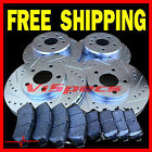 FITS GEO PRIZM SL 89 90 91 92 BRAKE ROTORS CERAMIC PADS FR