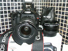Canon EOS 550D 180 MP Digital SLR Camera WITH THREE LENSES EF S IS