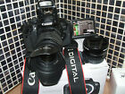 Canon EOS 650D Rebel T4i 180MP Digital SLR Camera Black WITH THREE LENSES