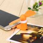 Mini MicroUSB Fan Portable Travel Android Smart PHONG Samsung S7 S6 S5 LG Orange
