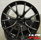 22 Hellcat Style Wheels Black Milled Rims Fits Dodge Magnum Charger Challenger