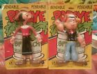 1988 POPEYE the Sailor Man and OLIVE OYL Bendable Poseable Bendy JESCO