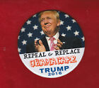 COLORFUL 3 TRUMP REPEAL AND RELACE OBAMA CARE 2016 PIN