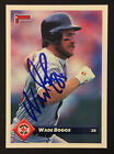 Wade Boggs Red Sox Yankees signed 1993 Donruss baseball card #245 auto Autograph