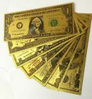Gold Bank Note Set of 7 24kt Gold Foil .999 $1 $2 $5 $10 $20 $50 and $100... NEW