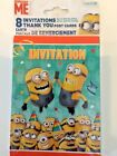 Despicable ME 8 Birthday Invitations + 8 Thank You Post Cards + 8 Envelopes UNIQ