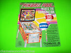 PINBALL POOL By GOTTLIEB 1979 ORIGINAL PINBALL MACHINE PROMO SALES FLYER