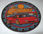 WILLIAMS GETAWAY ORIGINAL PINBALL MACHINE PLASTIC PROMO RARE ORANGE LOGO VERSION