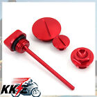 HONDA ENGINE PLUGS and OIL DIPSTICK FOR CRF250R CRF250X CRF450X 04-15 RED