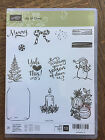 Stampin Up retired JAR OF CHEER Photopolymer Stamps Christmas mason snowman