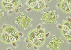 Waverly Tommy Bahama Fabric Tranquil Turtles Fossil Drapery and Upholstery