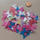 120 Handmade BUTTERFLY Punchies 2 Sizes Glitter Cardstock 1 2 X 1 2