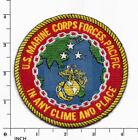 """USMC Marine Forces Pacific MARFORPAC larger ! 4"""" color PATCH """"Any Clime"""