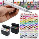 80 168 Color Set Markers Pen Touchnew Graphic Art Five Sketch Twin Tip Glove US