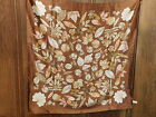 Vintage Italy Brown Autumn Fall Leaf Leaves Silky 34 SQ Scarf