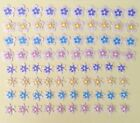 Floral Punchies 80 Pieces w Pearl Center Pearl Cardstock 7 8 Petals