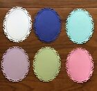 6 Fancy Oval Tags Frames Die Cuts Easter Pastels Scrapbooking And Cardmaking