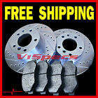 FITS GEO PRIZM 93 94 95 96 97 BRAKE ROTORS METALLIC PADS FRONT