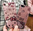 Cute Hello Kitty Glitter Bling Transparent Soft Case For iPhone 7 7 Plus