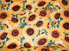 BTY WILD GOLD SUNFLOWERS Print 100 Cotton Quilt Craft TT Fabric by the Yard