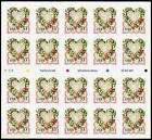 Slightly Imperfect VICTORIAN LOVE HEARTS 3274a Booklet Pane 20 x 33 Stamps 1999