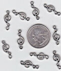 YOU GET 50 silver tone metal Musical Notes charms FROM US SELLER L1