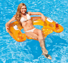 Inflatable Float Lounge Floating Chair Raft Blow Up Pool Toy Water Party