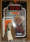 Vintage Kenner Star Wars Squid Head rare light tan variant cape Figure with card