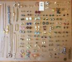 HUGE LOT OF VINTAGE UNIQUE JEWELRY WATCHES EARRINGS NECKLACES PINS MISC