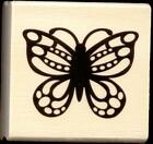 CRAFT SMART rubber stamp BUTTERFLY wood mounted