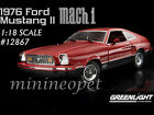 GREENLIGHT 12867 1976 76 FORD MUSTANG II MACH 1 1 18 DIECAST MODEL CAR RED