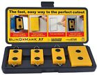 Blind Mark Drywall Electrical Outlet Box Locating Locator Tool Kit (4-Pieces)