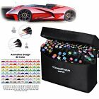 80 Color Set Markers Pen Touch Five Graphic Art Five Sketch Twin Tip Free Glove