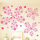 10Color 108 Flowers7 Butterfly Wall Sticker Decal DIY Removable Home Decor Gift
