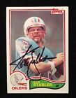 KEN STABLER 1982 TOPPS AUTOGRAPHED SIGNED AUTO FOOTBALL CARD 105 OILERS RAIDERS