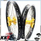 1.6*21 & 2.15*19 WHEEL FOR SUZUKI RM125 1999-2008 RM250 99-08 RIMS SET GOLD HUB